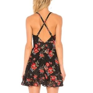 Lovers + Friends Dresses - Lovers And Friends Floral Lace Mini Dress